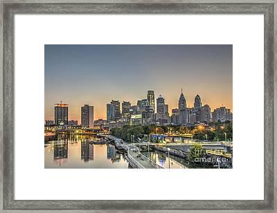 Skyline At Dawn Framed Print