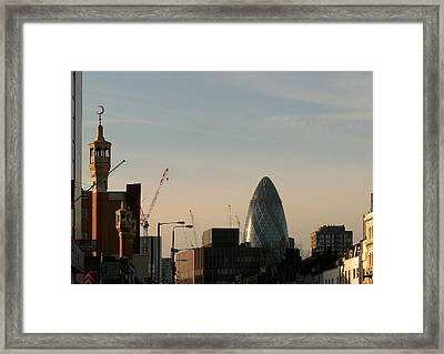 Framed Print featuring the photograph Skyline At Whitechapel by Helene U Taylor