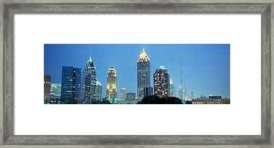 Skyline Atlanta Ga Usa Framed Print by Panoramic Images