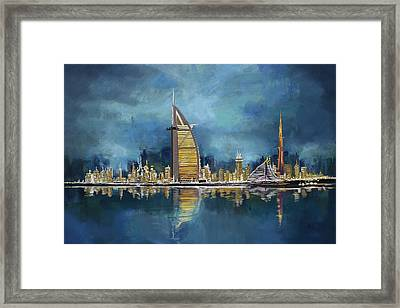 Skyline Burj-ul-khalifa  Framed Print by Corporate Art Task Force
