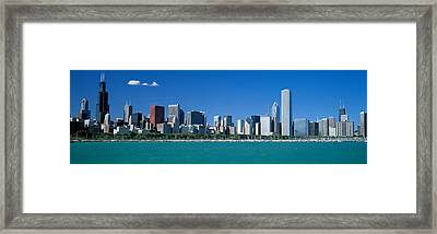 Skyline Chicago Il Usa Framed Print by Panoramic Images