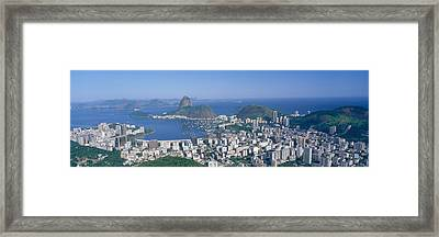 Skyline, Cityscape, Coastal City, Rio Framed Print