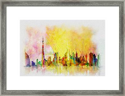 Skyline Collage  Framed Print by Corporate Art Task Force