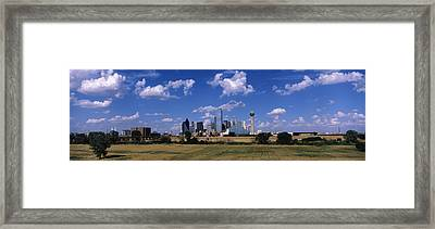 Skyline Dallas Tx Usa Framed Print by Panoramic Images