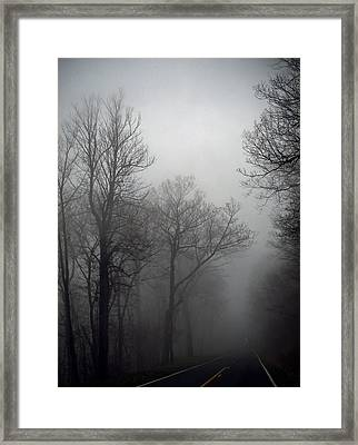 Skyline Drive In Fog Framed Print by Greg Reed