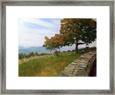 Framed Print featuring the painting Skyline Drive Virginia by Sandra Nardone