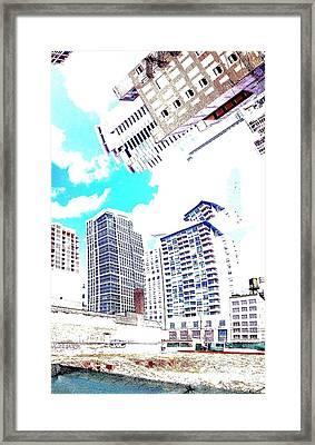 Skyline Flowing Framed Print by Scott Dixon