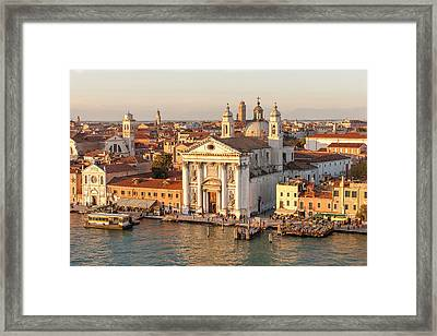 Skyline From Above With Gesuati In Front Framed Print