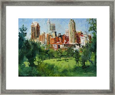 Skyline From Dix Hill Framed Print