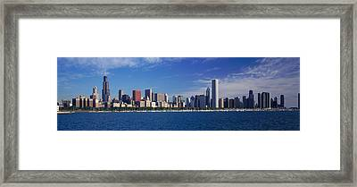 Skyline From Lake Michigan, Chicago Framed Print