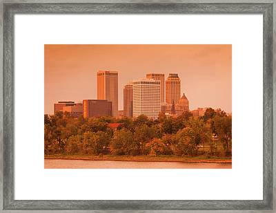 Skyline From The Arkansas River Framed Print by Panoramic Images