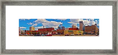Skyline From The Inside... Detroit Framed Print