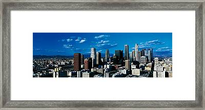 Skyline From Transamerica Center Los Framed Print