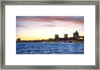 Skyline Hamburg Framed Print by Daniel Heine