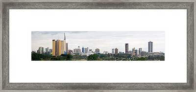 Skyline In A City, Nairobi, Kenya 2011 Framed Print by Panoramic Images
