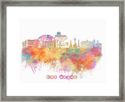 Skyline Las Vegas Framed Print