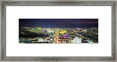 Skyline, Las Vegas, Nevada, Usa Framed Print