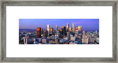 Skyline, Los Angeles, California Framed Print