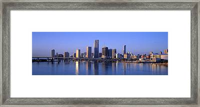 Skyline Miami Fl Usa Framed Print