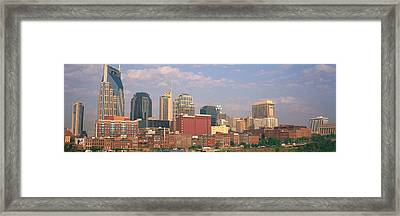 Skyline Nashville Tn Framed Print by Panoramic Images