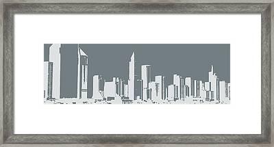 Skyline Number 12 Framed Print by Gina Dsgn