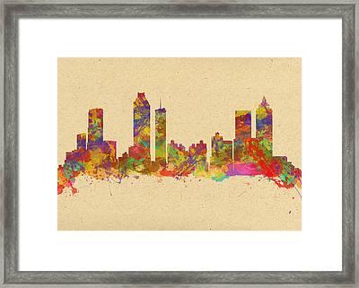 skyline of Atlanta Georgia Framed Print by Chris Smith