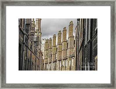 Skyline Of Cambridge Framed Print