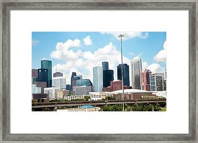 Skyline Of Downtown Houston Texas Framed Print by Fstop123