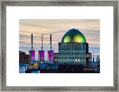 Skyline Of Hannover In Germany Framed Print