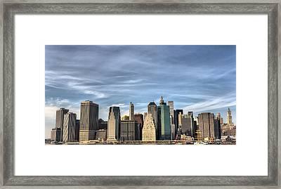 Skyline Of Ny Framed Print
