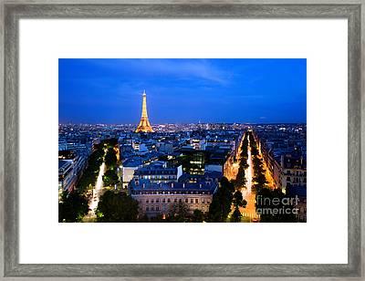 Skyline Of Paris Framed Print