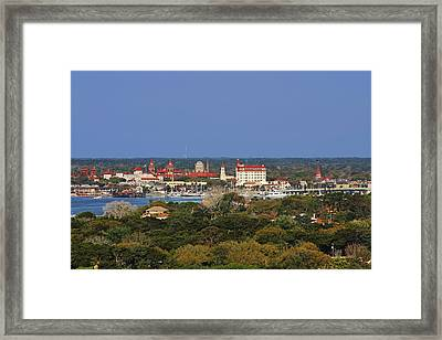 Skyline Of St Augustine Florida Framed Print by Christine Till