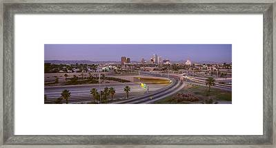 Skyline Phoenix Az Usa Framed Print