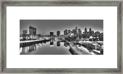 Skyline Reflections Framed Print by Mark Ayzenberg
