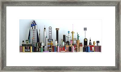 Skyline Sculpture Framed Print