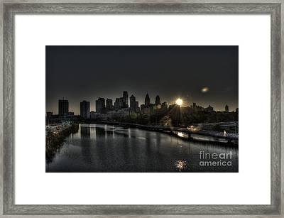 Skyline Sunrise Framed Print