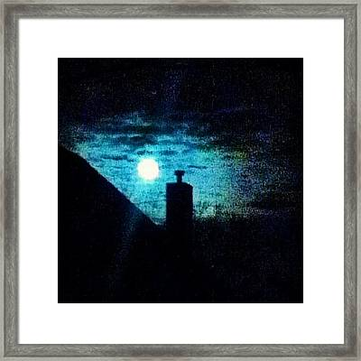 Skyline With Moon Framed Print