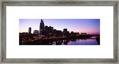 Skylines At Dusk Along Cumberland Framed Print by Panoramic Images
