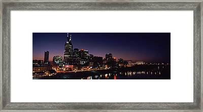Skylines At Night Along Cumberland Framed Print by Panoramic Images