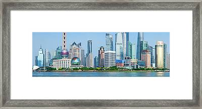 Skylines At The Waterfront, Oriental Framed Print by Panoramic Images