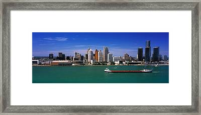 Skylines At The Waterfront, River Framed Print by Panoramic Images