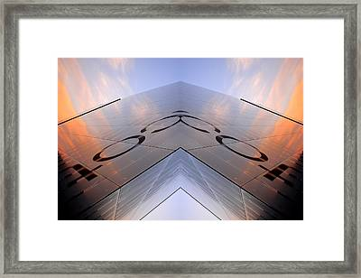 Skynet Building In Glass  Framed Print by Tommytechno Sweden