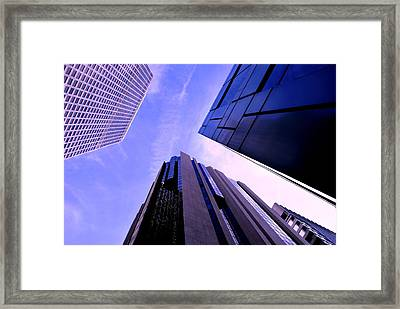 Skyscraper Angles Framed Print