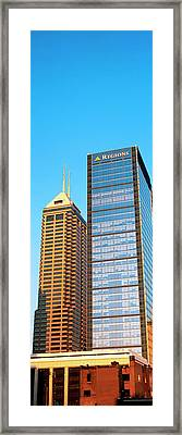 Skyscraper In A City, Indianapolis Framed Print