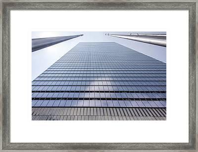 Skyscraper In New York Framed Print by Rostislav Bychkov