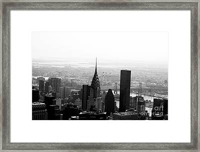 Skyscraper Framed Print by Linda Woods