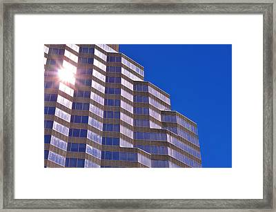 Skyscraper Photography - Downtown - By Sharon Cummings Framed Print