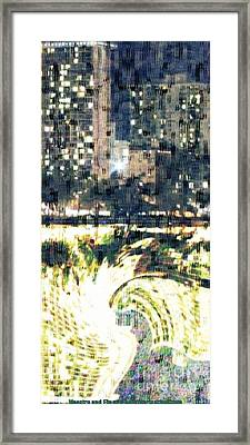Skyscraper Reflection Painting Framed Print by PainterArtist FIN