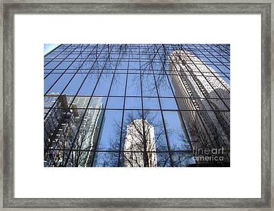 Skyscraper Reflections - Charlotte Nc Framed Print by Shelia Kempf