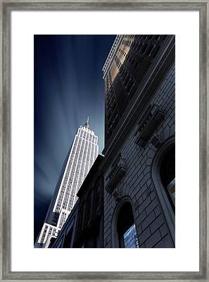 Skyscraper Framed Print by Sebastien Del Grosso
